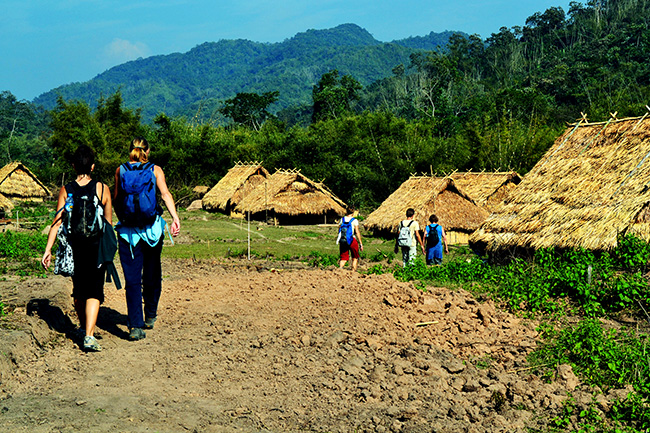 Trek to ethnic villages in the jungles of the protected areas